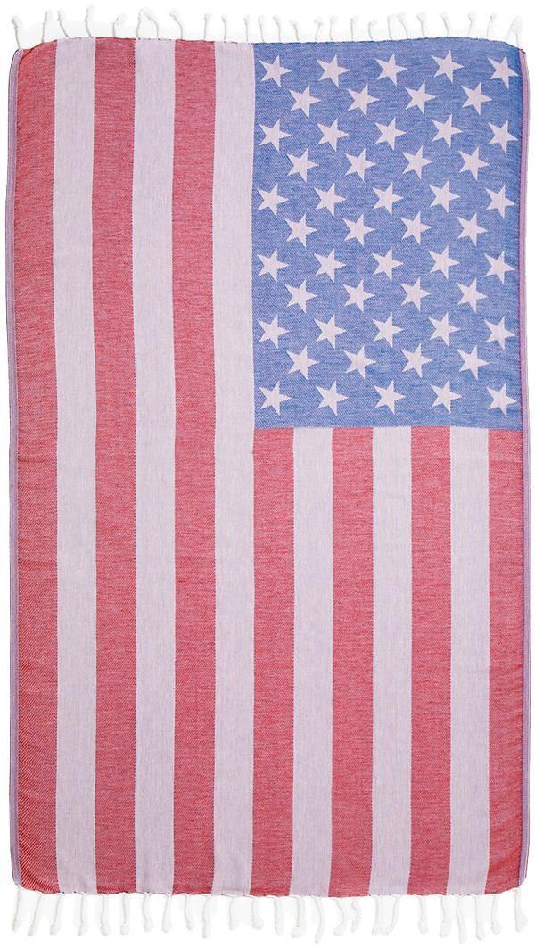 Hamamtuch, Seahorse, »USA«, mit Flaggenmotiv