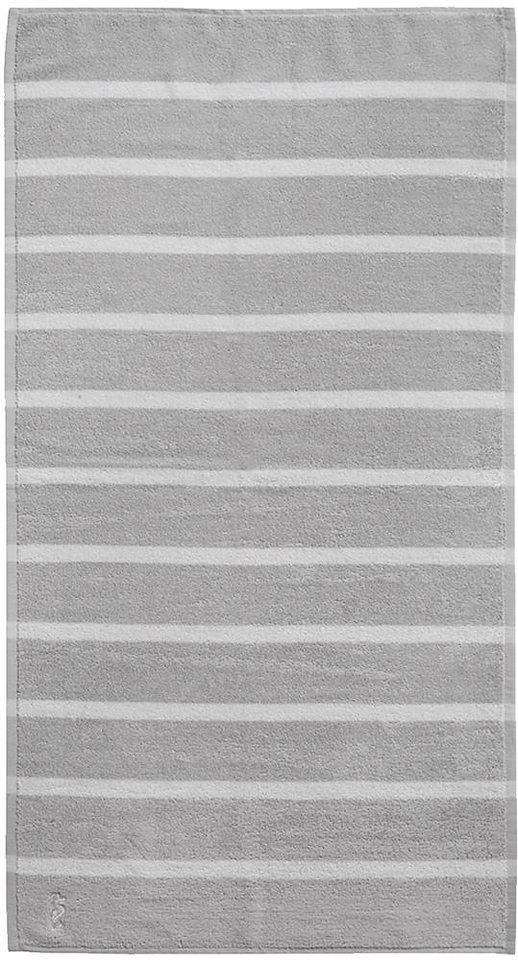Handtücher, Seahorse, »Menton«, mit dezenten Streifen in grau