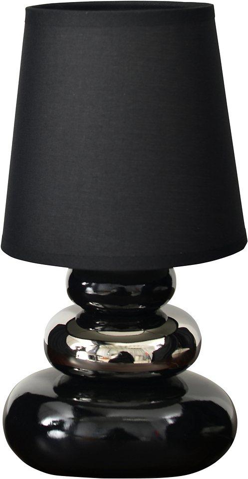 Tischlampe, 1-flg., Näve in schwarz
