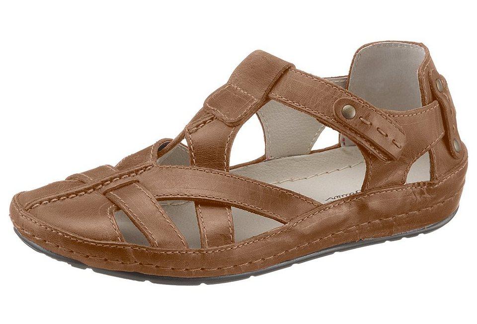 Eddie Bauer Leder-Sandale in Braun