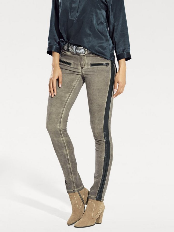 Skinnyhose in taupe