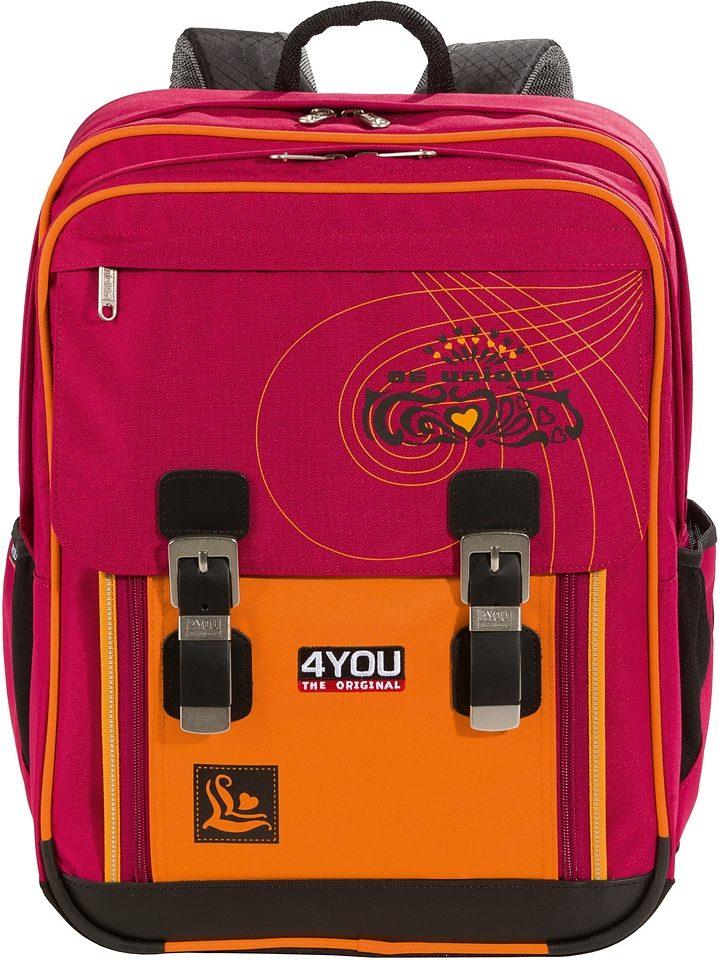 4YOU Schulrucksack mit Laptopfach, »Rucksack Classic Plus Be Unique«