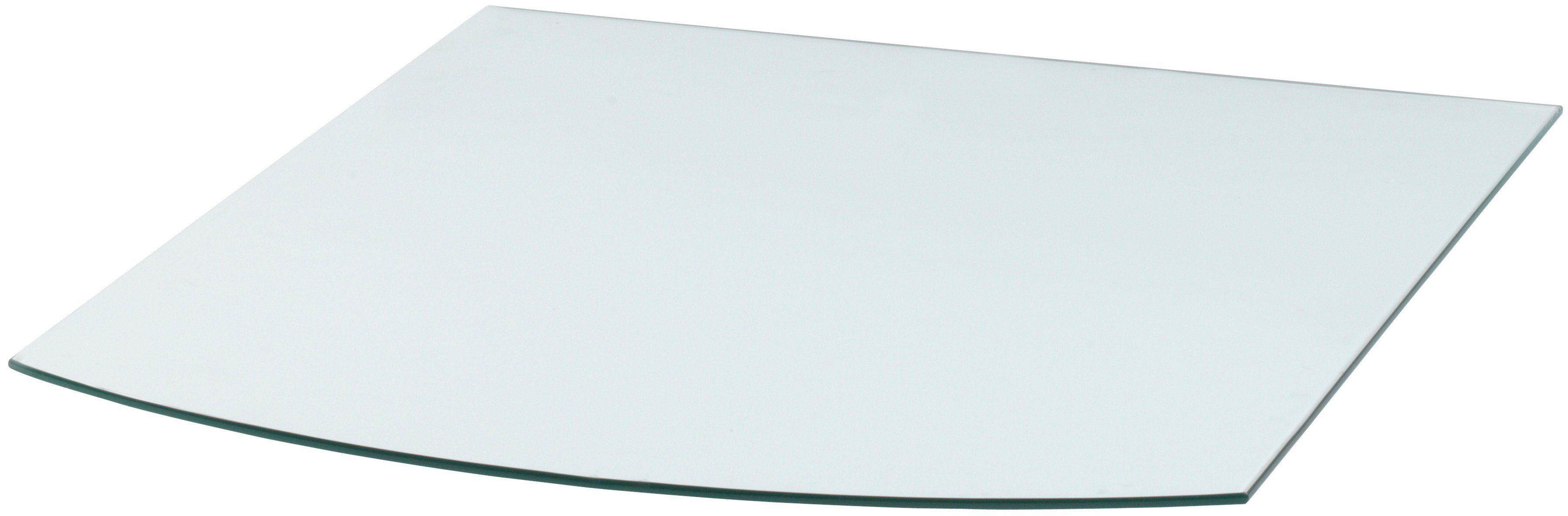 Glasbodenplatte »Segmentbogen«, 80 x 100 cm, transparent, zum Funkenschutz