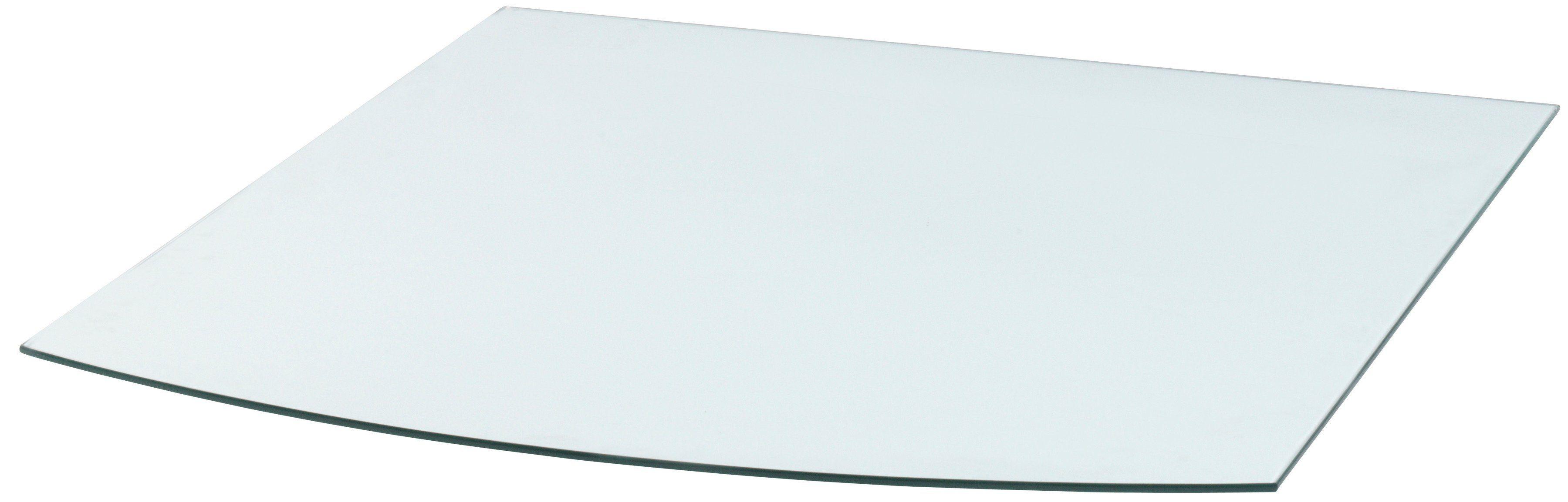 Glasbodenplatte »Segmentbogen«, 100 x 120 cm, transparent, zum Funkenschutz