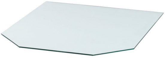 Glasbodenplatte »Sechseck«, 85 x 100 cm, transparent, zum Funkenschutz