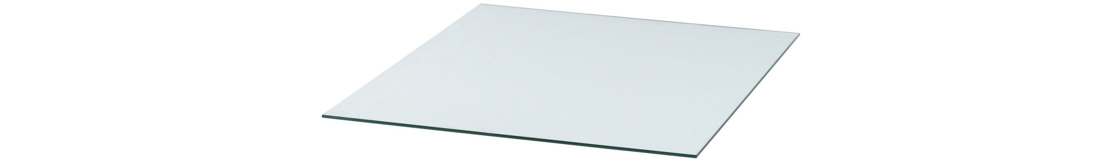 Glasbodenplatte »Rechteck«, 85 x 100 cm, transparent, zum Funkenschutz