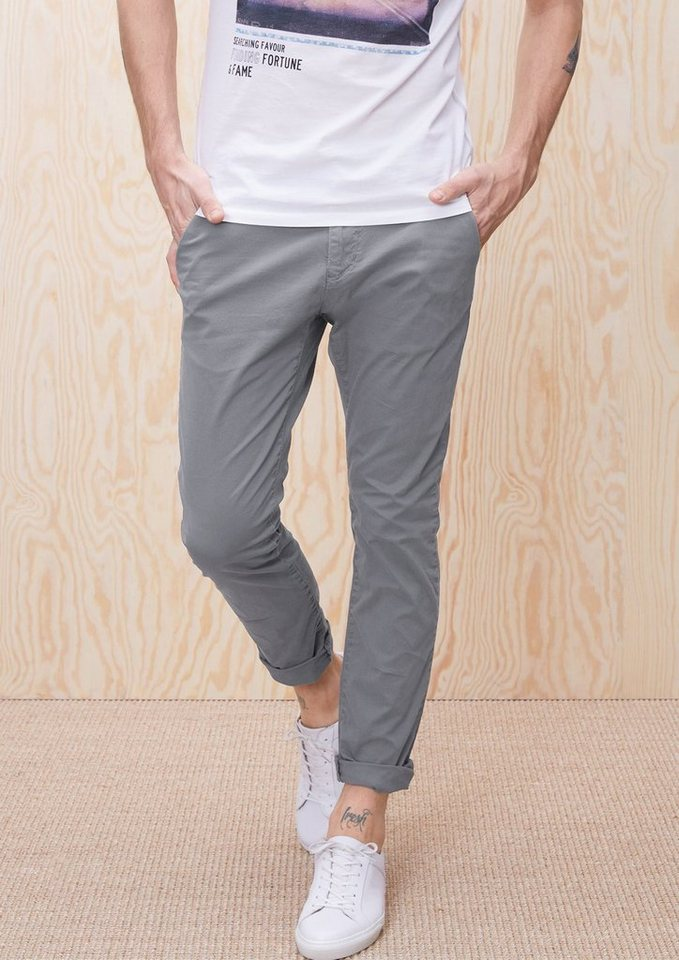 s.Oliver RED LABEL Sneck Slim: Chino mit Minimalmuster in ice grey