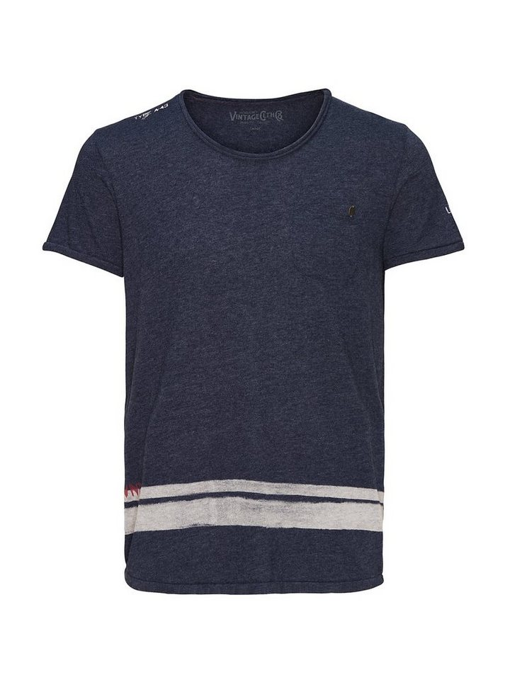 Jack & Jones Markant bedrucktes T-Shirt in Mood Indigo