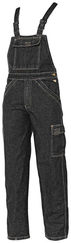 Jeans-Latzhose in schwarz