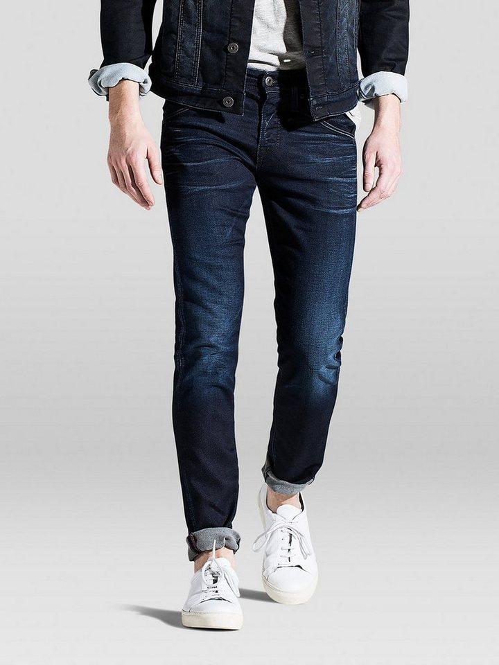 Jack & Jones Glen JJFOX bl 623 Indigo Strick Slim Fit Jeans in Blue Denim