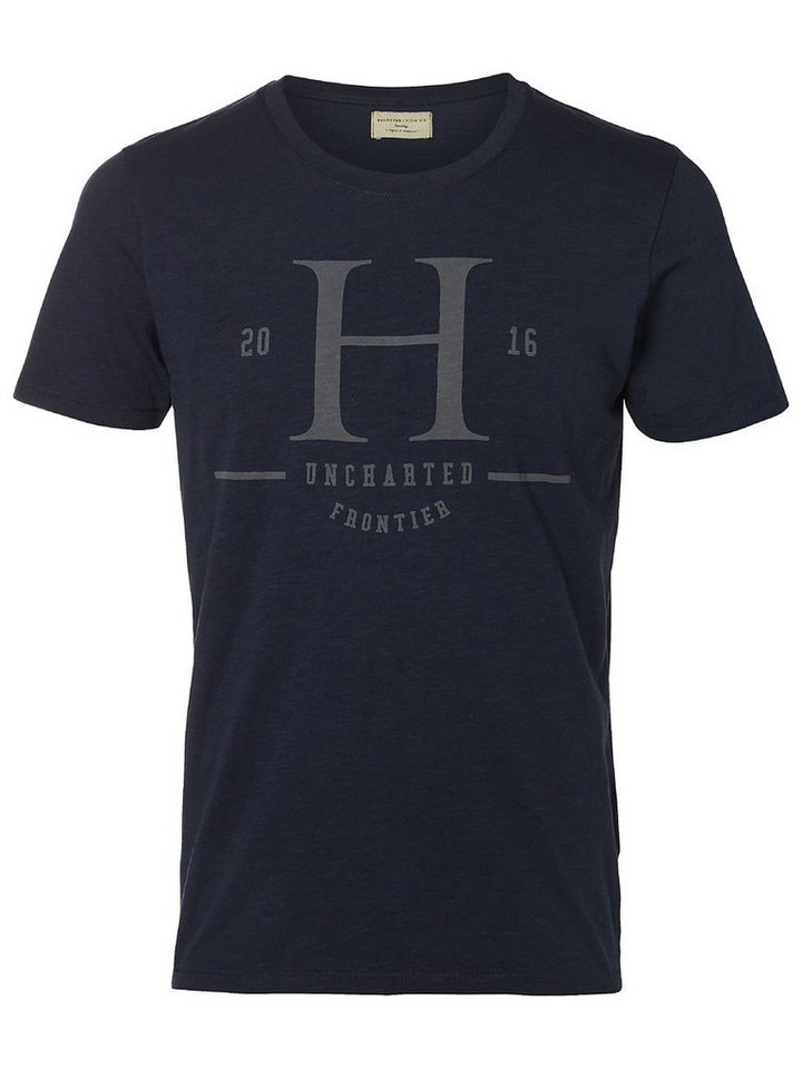 Selected Bedrucktes T-Shirt in Dark Sapphire