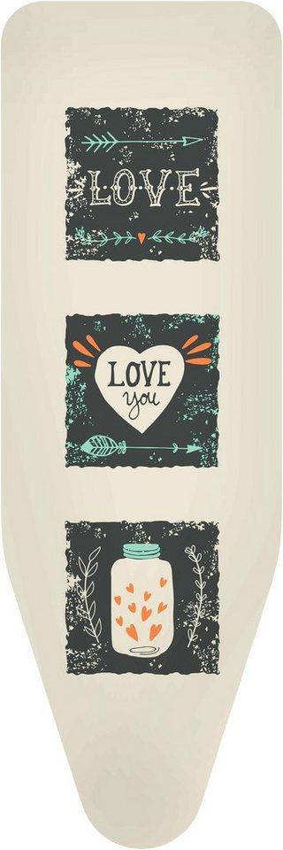 Bügelbrettbezug »Love« Farbe Beige, in 3 Größen in grau