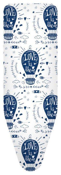 Bügelbrettbezug »Love und Air Ballons« Farbe Blau, in 3 Größen in blau