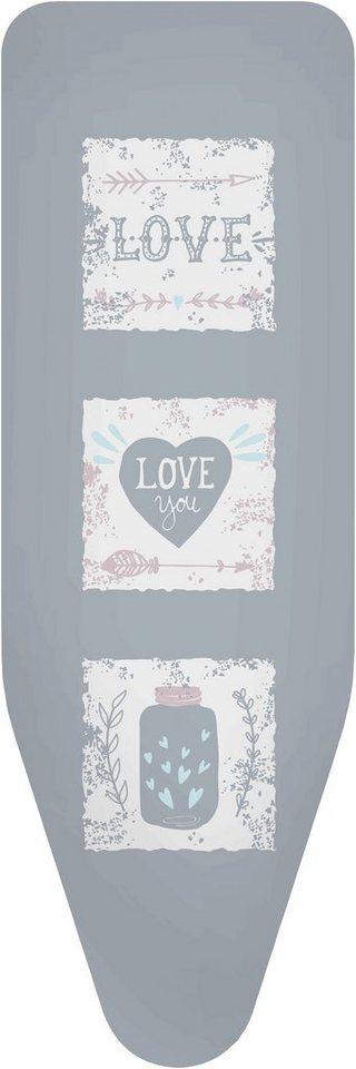 Bügelbrettbezug »Love« Farbe Grau, in 3 Größen in bunt