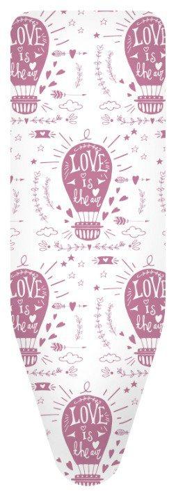 Bügelbrettbezug »Love und Air Ballons« Farbe Weiß/ rosa, in 3 Größen in rosa