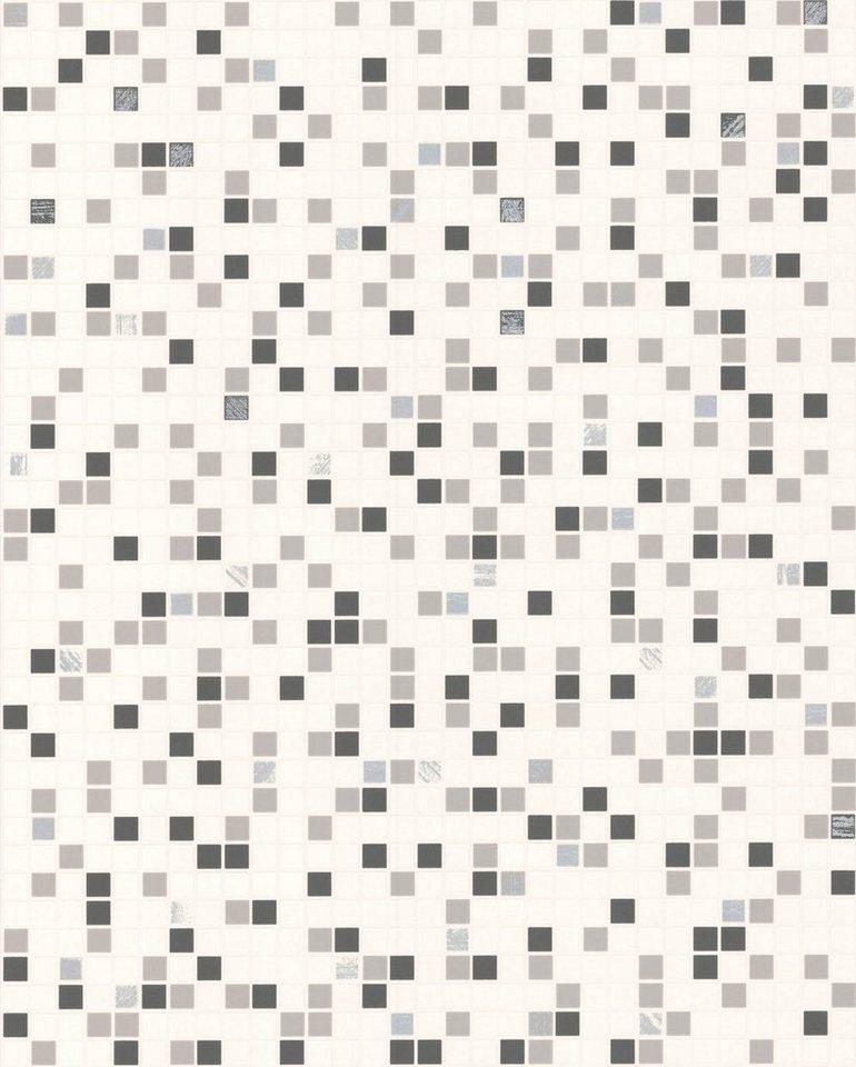 Papiertapete »Checker Fliese« in weiß