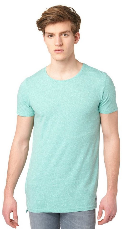 TOM TAILOR DENIM T-Shirt »snow m« in waterfall green