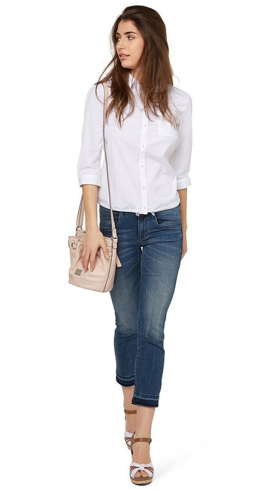 TOM TAILOR Jeans »Slim Carrie« in mid stone wash denim