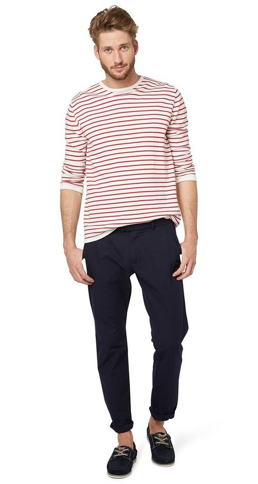 TOM TAILOR Hose »sommerliche Chino« in knitted navy