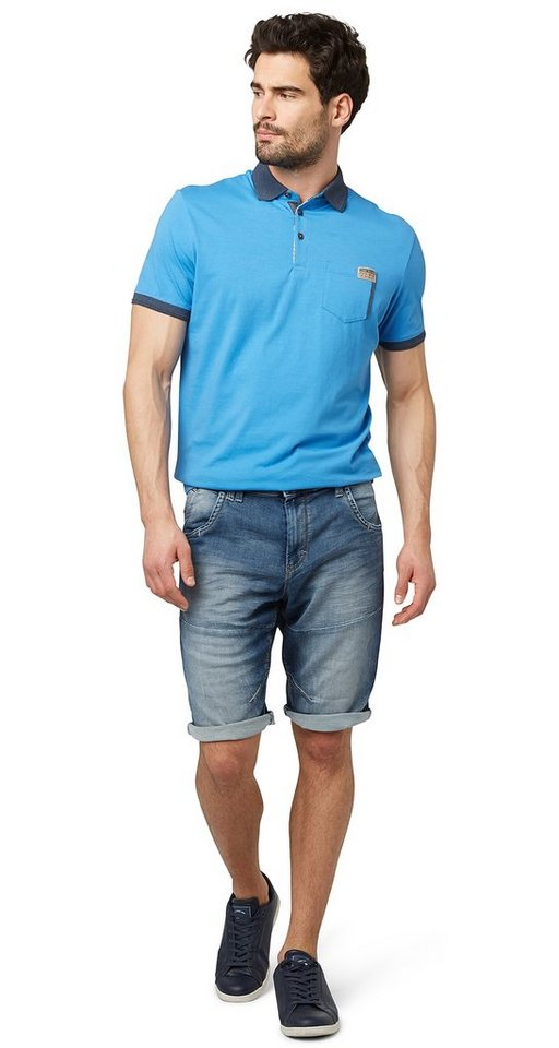 TOM TAILOR Shorts »Jeans aus Sweat-Material« in light stone wash den