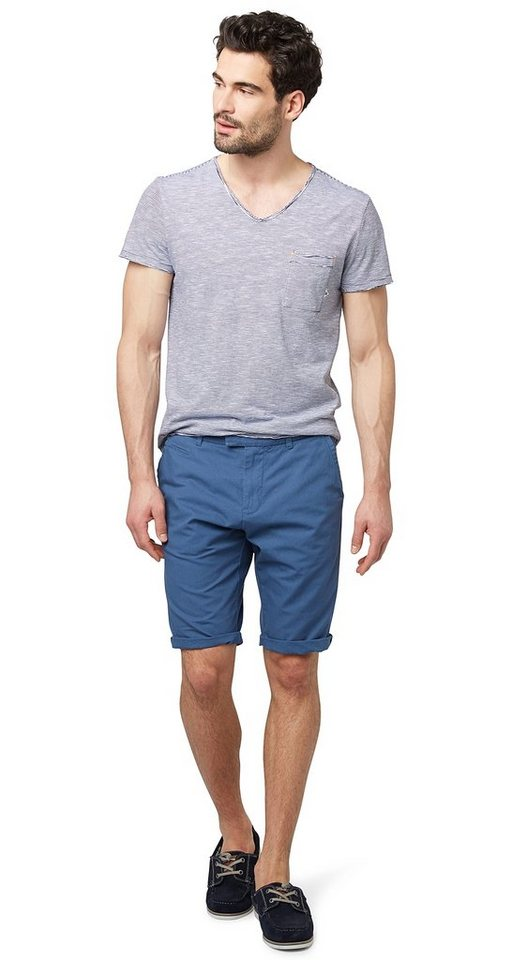 TOM TAILOR Shorts »Chino in Bermuda-Länge« in ensign blue