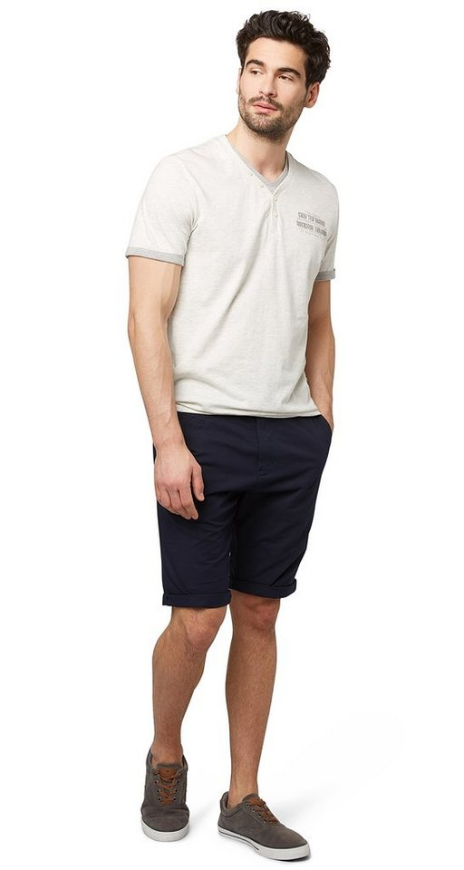 TOM TAILOR Shorts »Chino in Bermuda-Länge« in knitted navy