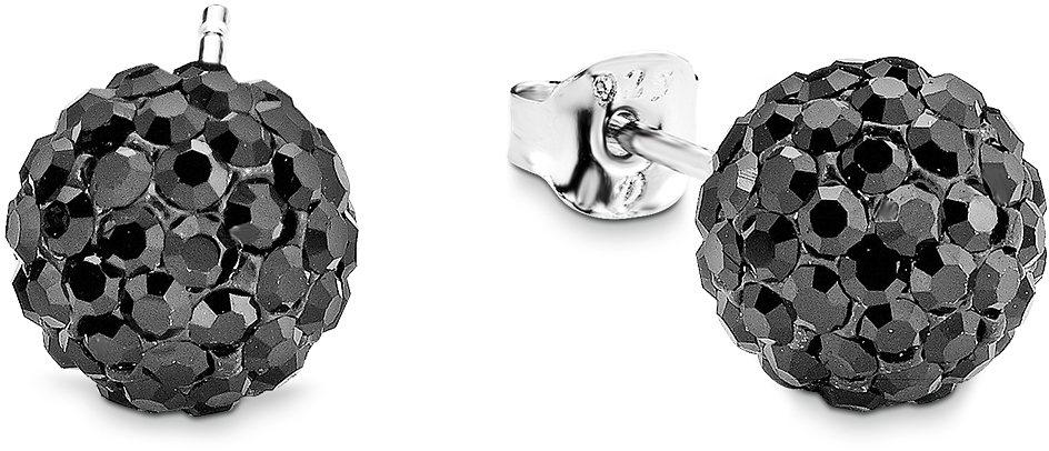 Amor Paar Ohrstecker, »E69/9« in Silber 925-schwarz