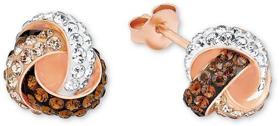 Amor Paar Ohrstecker »9297962, Knoten« mit Swarovski® Kristallen