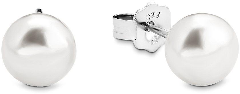 Amor Paar Ohrstecker, »A62/10« in Silber 925-weiß