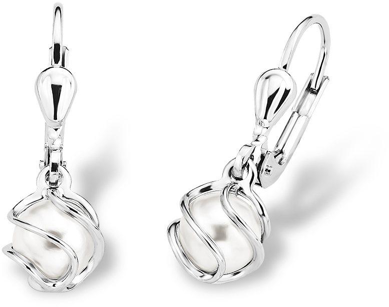 Amor Paar Ohrhänger, »A71/8« in Silber 925-weiß