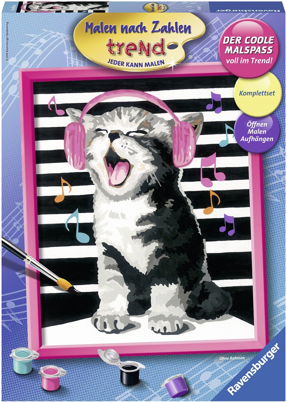 Ravensburger Malen nach Zahlen trend, »Singing Cat«