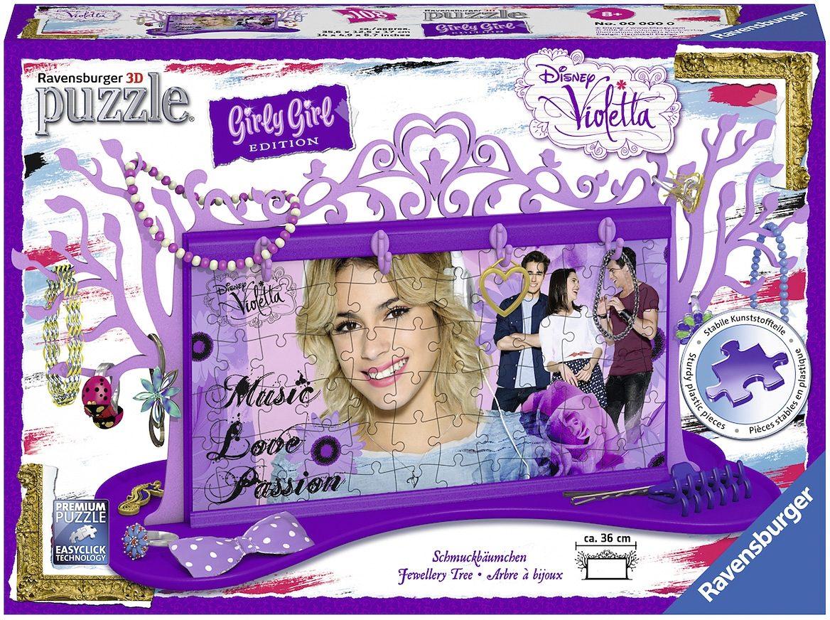 Ravensburger 3D Puzzle, 108 Teile, »Disney Schmuckbäumchen Violetta«