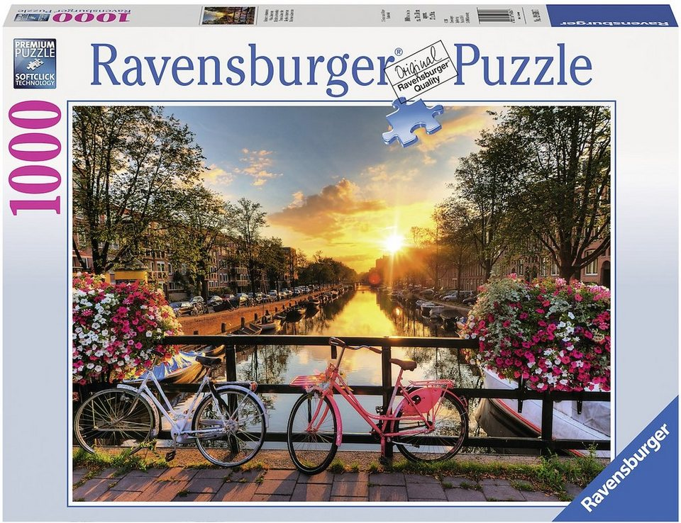 Ravensburger Puzzle, 1000 Teile, »Fahrräder in Amsterdam«