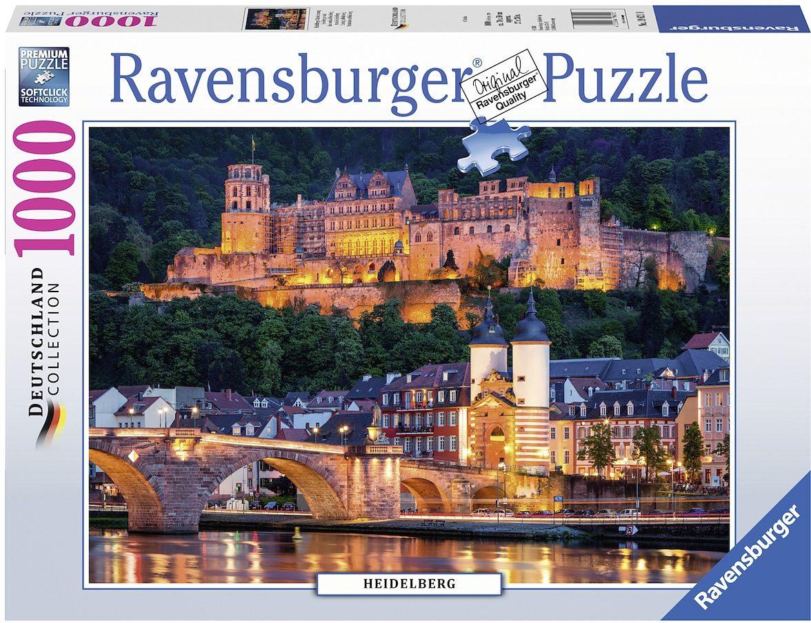 Ravensburger Puzzle, 1000 Teile, »Heidelberger Abendstimmung«