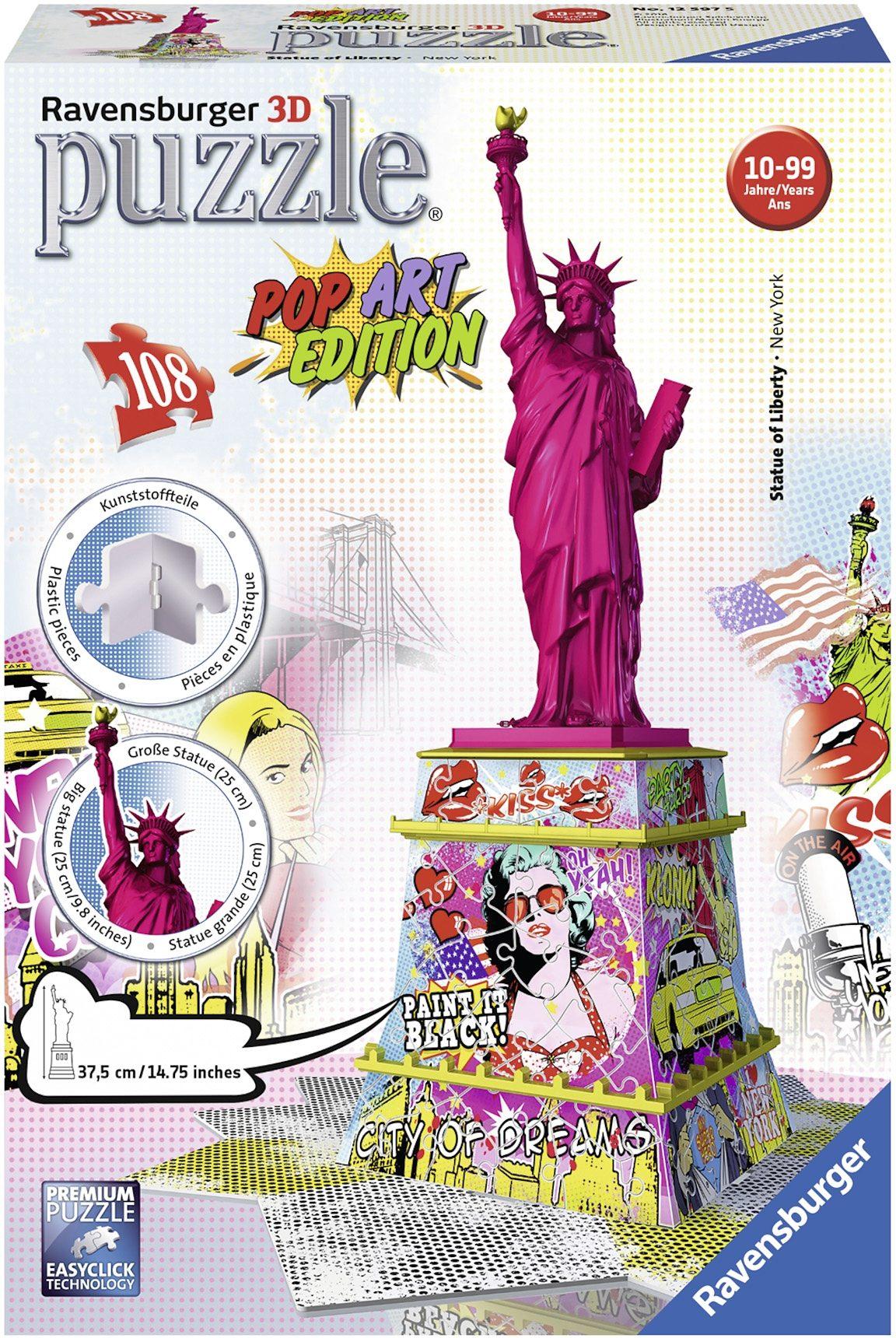 Ravensburger 3D Puzzle, 108 Teile, »Pop Art Edition Freiheitsstatue«