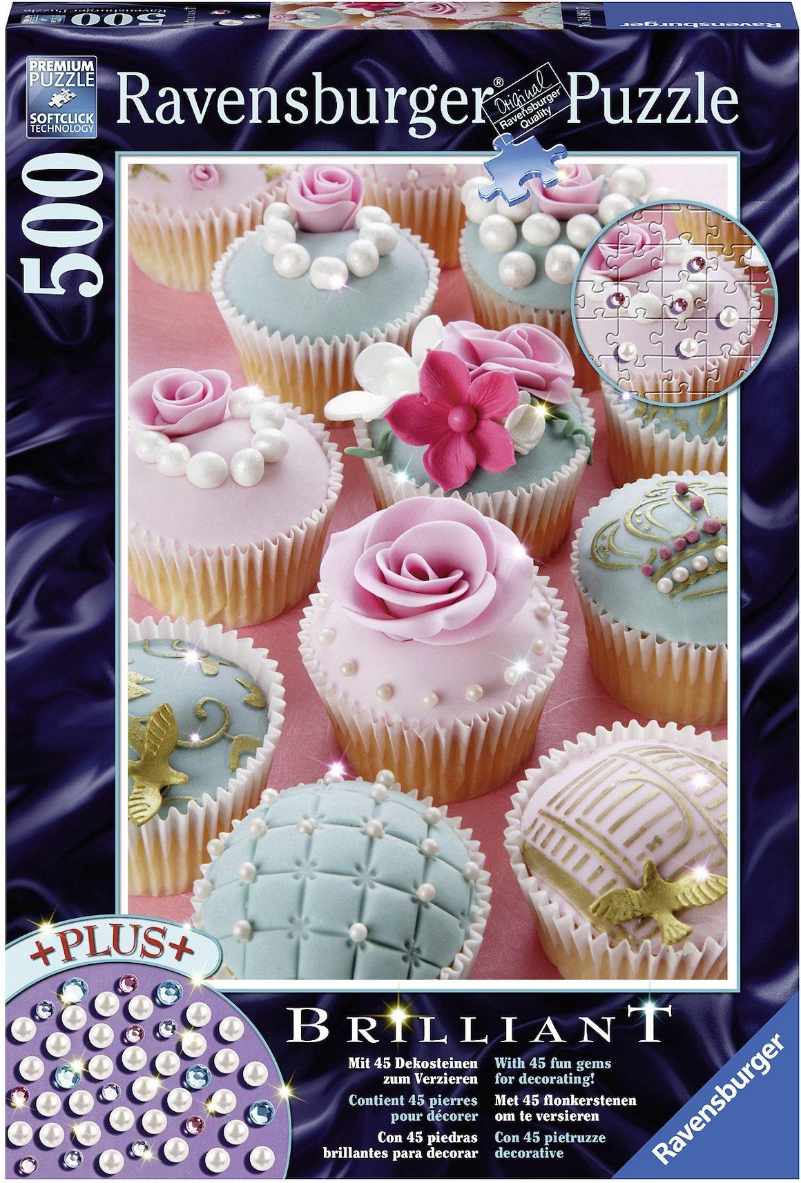 Ravensburger Puzzle mit Dekosteinen, 500 Teile, »Perlencupcakes«
