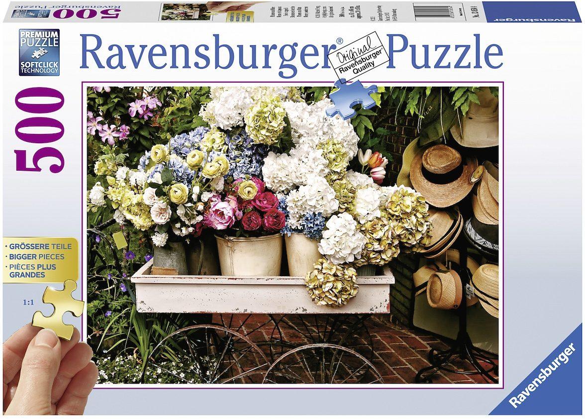 Ravensburger Puzzle, 500 Teile, »Blumen und Hüte«