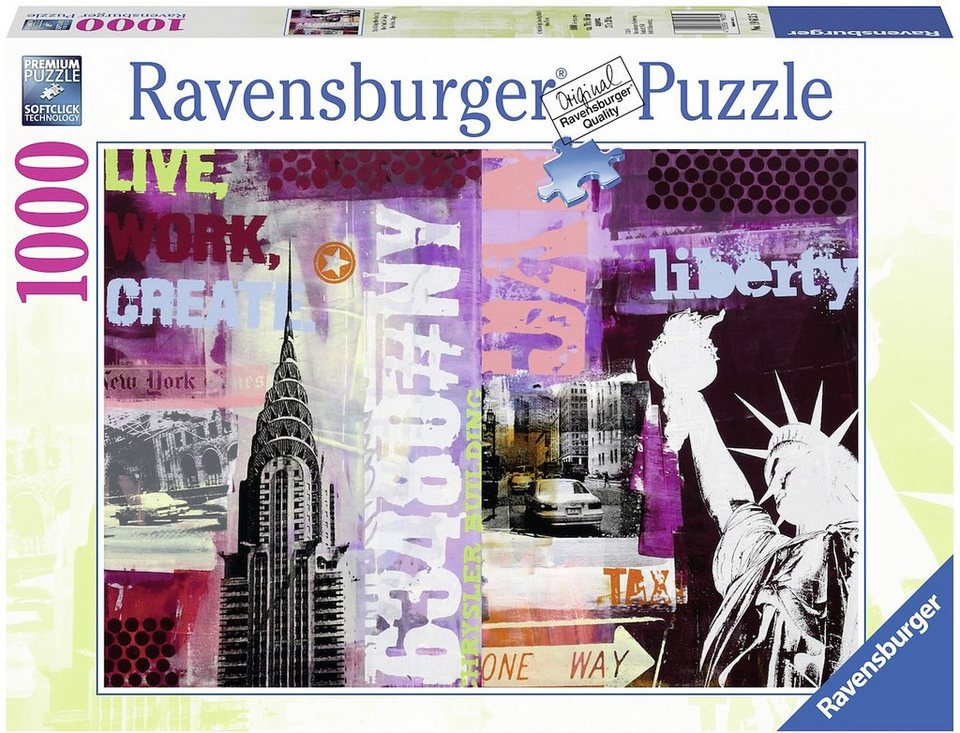 Ravensburger Puzzle 1000 Teile Style Collage New York City?$formatz$