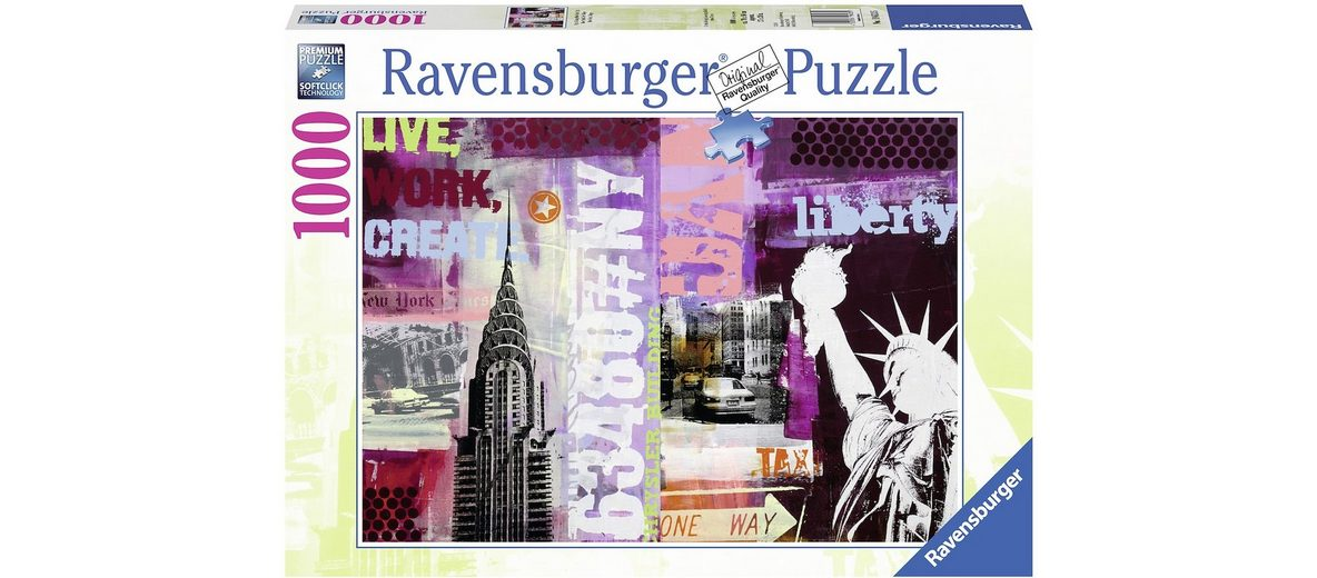Ravensburger Puzzle, 1000 Teile, »Style Collage New York City«