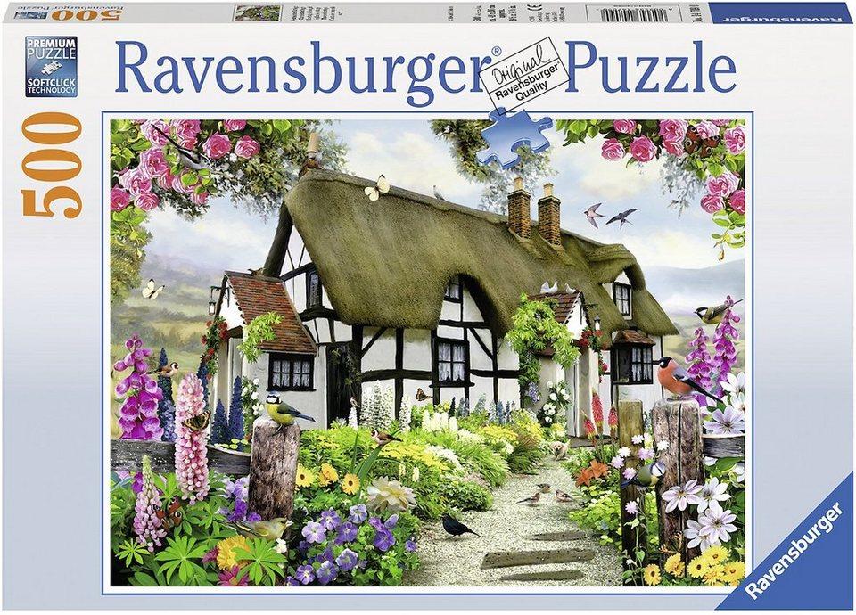ravensburger puzzle 500 teile vertr umtes cottage. Black Bedroom Furniture Sets. Home Design Ideas