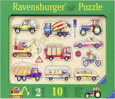 ravensburger kinderpuzzle aus holz 10 teile auf der stra e online kaufen otto. Black Bedroom Furniture Sets. Home Design Ideas