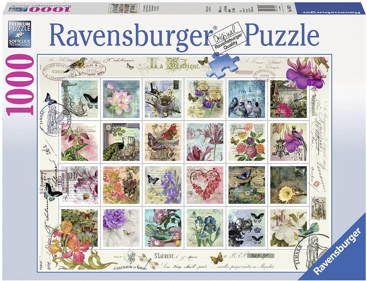Ravensburger Puzzle, 1000 Teile, »Briefmarken«