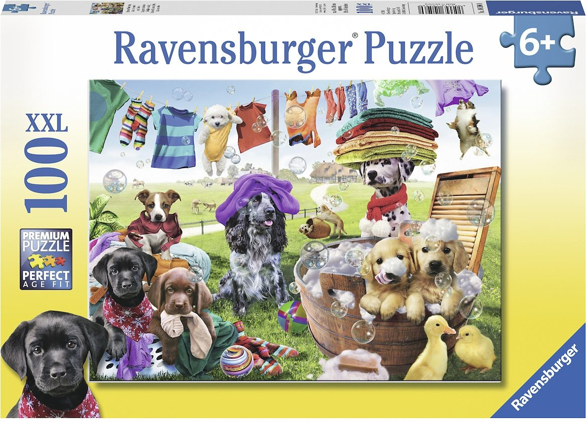 Ravensburger XXL Puzzle, 100 Teile, »Bunter Waschtag«