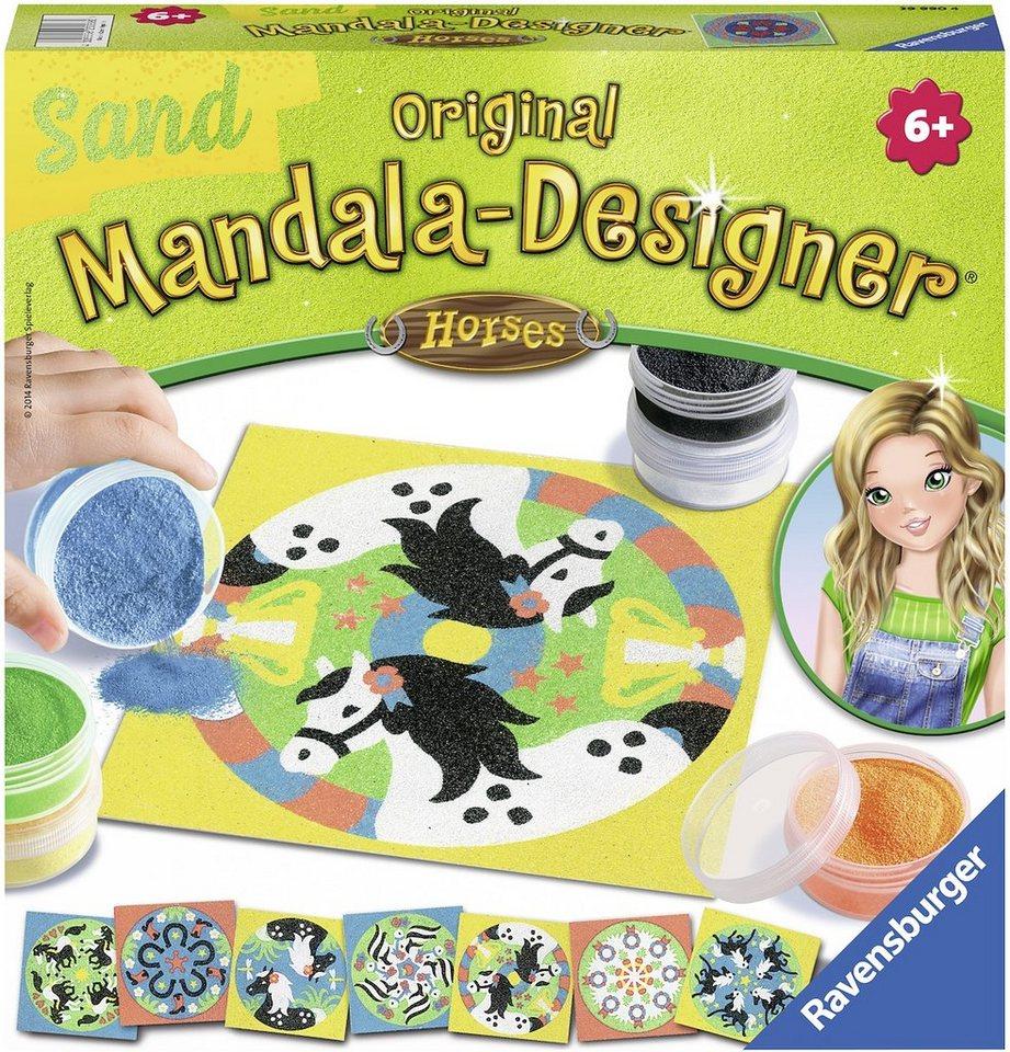 Ravensburger Bastelset, »Mandala Designer Sand Horses«