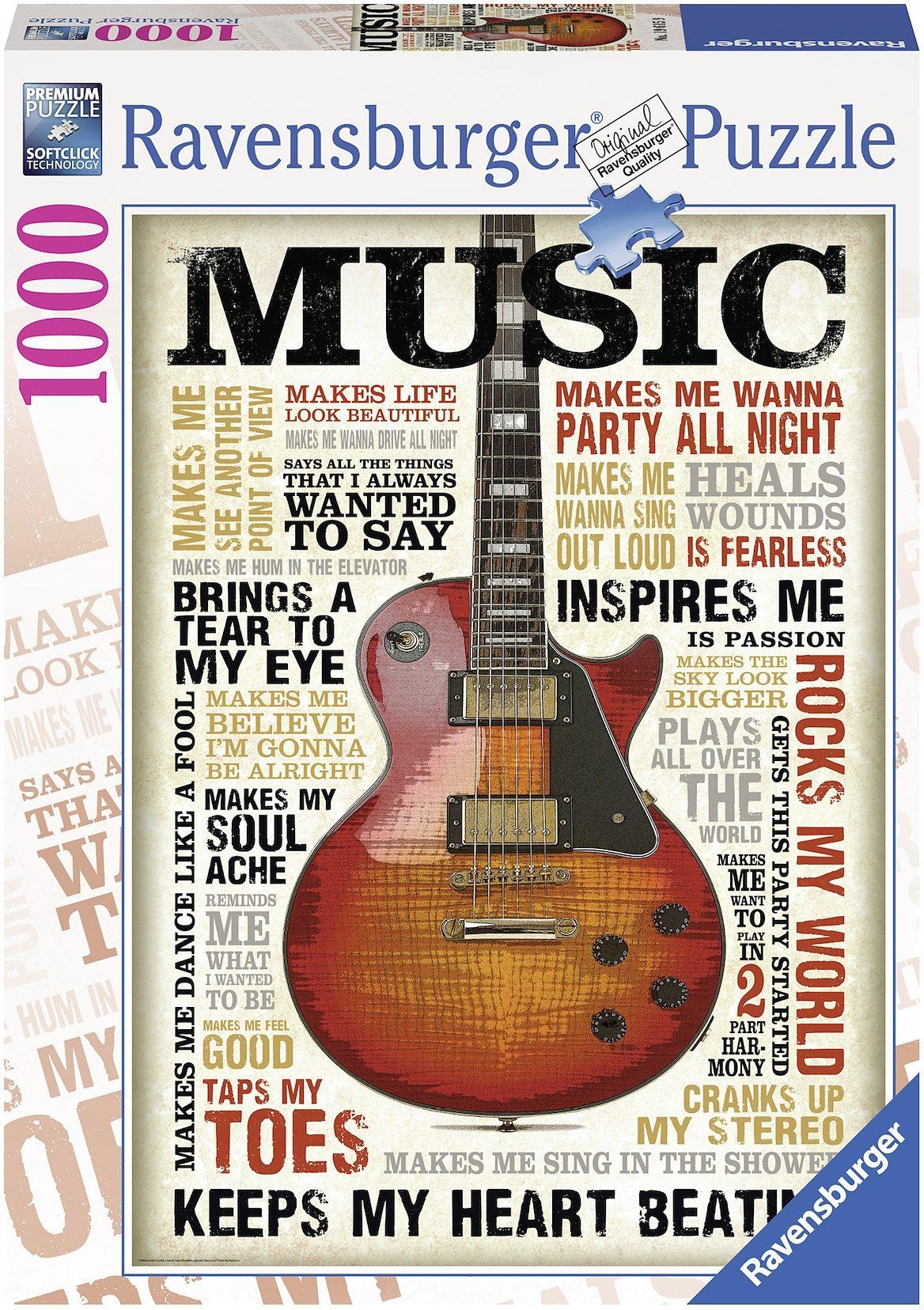Ravensburger Puzzle, 1000 Teile, »Leidenschaft zur Musik«