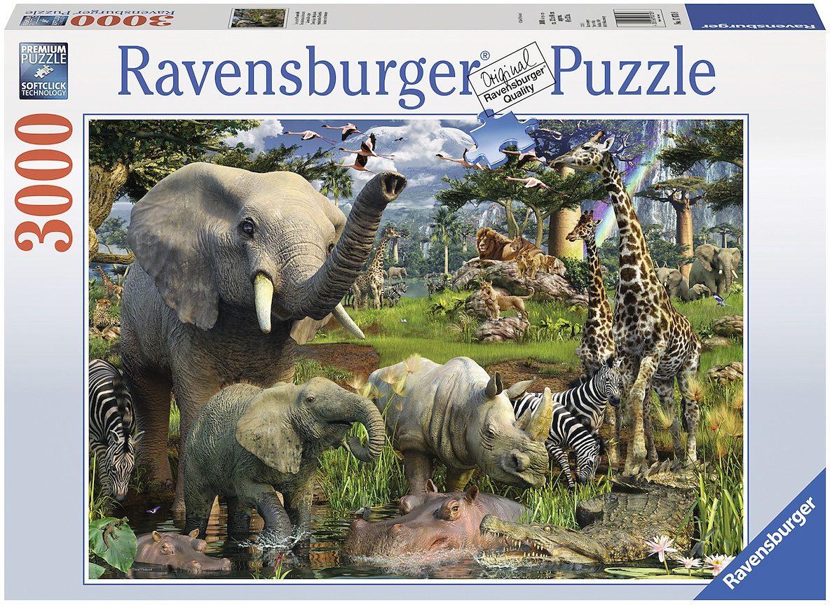 Ravensburger Puzzle, 3000 Teile, »Tiere an der Wasserstelle«