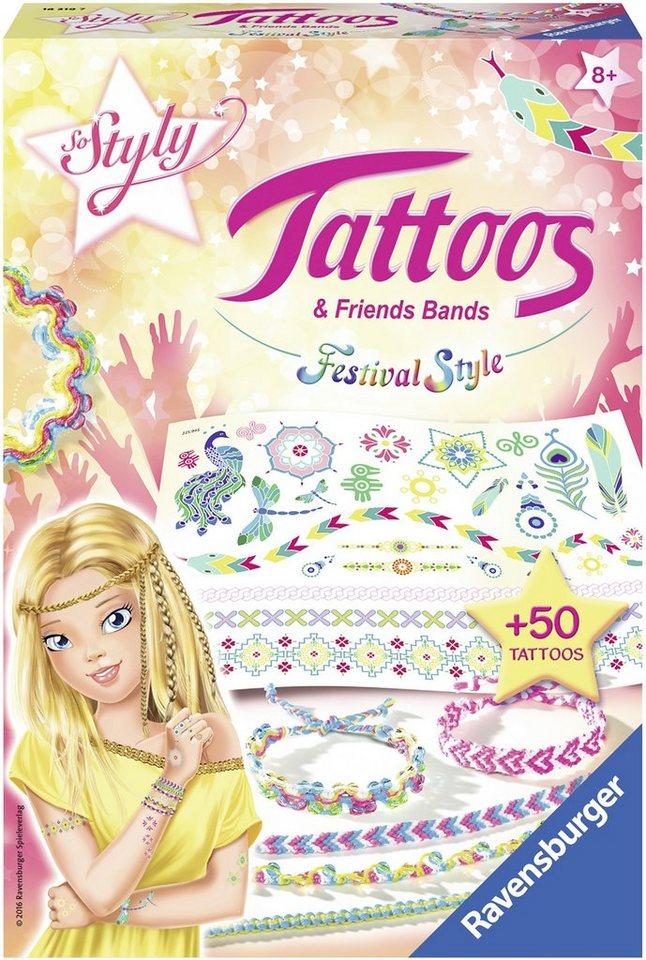 Ravensburger Tattoos und Freundschaftsbänder, »So Styly Tattoos & Friends Bands Festival Style«