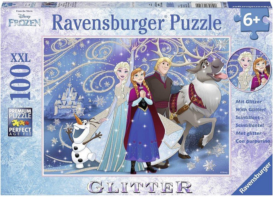 Ravensburger Glitzerpuzzle, 100 Teile, »Disney Frozen glitzernder Schnee«