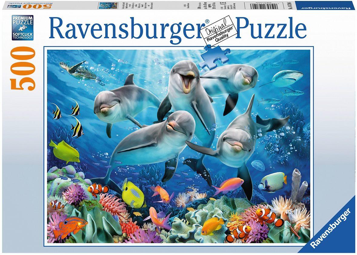 Ravensburger Puzzle, 500 Teile, »Delfine im Korallenriff«