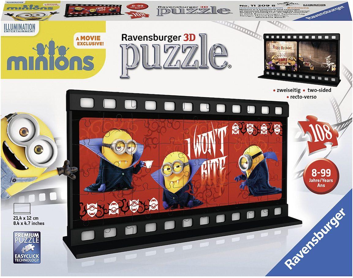 Ravensburger 3D Puzzle, 108 Teile, »Filmstreifen Minion Gone Batty«